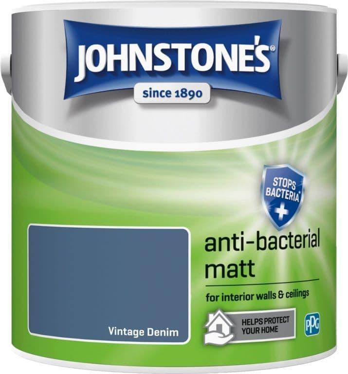 Johnstone's Anti Bacterial Matt 2.5L - Vintage Denim